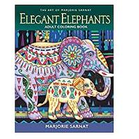 The Art of Marjorie Sarnat: Elegant Elephants Adult Coloring Book