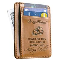 """To My Husband"" Engraved Wallet"