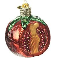 Tomato Glass Holiday Ornament