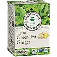 Traditional Medicinals Organic Green Tea Ginger Tea, 16 Tea Bags, Pack of 6