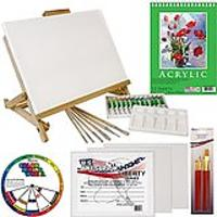 US Art Supply 33-Piece Custom Artist Acrylic Painting Set