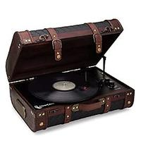 Vintage Suitcase Turntable With Bluetooth