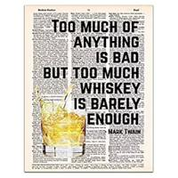 Whiskey is Barely Enough - Mark Twain Quote Print