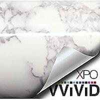 White Grey Marble Gloss Vinyl Film Contact Paper
