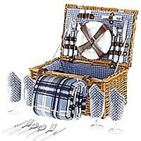 Wicker Picnic Basket Hamper Set