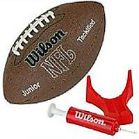 Wilson NFL MVP Junior Football With Pump & Tee
