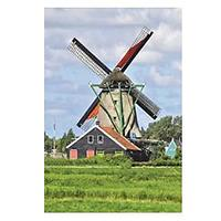 Windmill at Zaanse Schans Holland Netherlands Journal