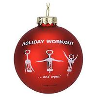 Wine Workout Holiday Ornament