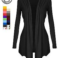 Women's Open-Front Long Sleeve Knit Cardigan