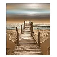 Wooden Bridge in the Sea