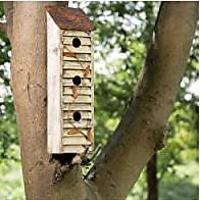 Wooden Three-Tier Hanging Distressed Garden Bird House (Bestseller)