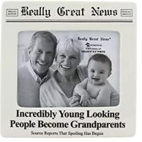 Young Grandparents Ceramic Frame