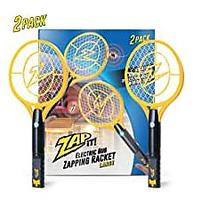 ZAP IT! Bug Zapper Twin-Pack Rechargeable Mosquito & Fly Killer