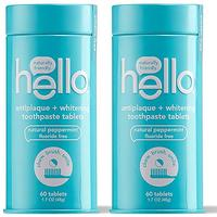 hello Antiplaque With Whitening Toothpaste Tablets